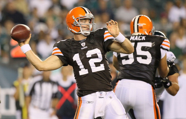 Colt McCoy #12 of the Cleveland Browns (Photo by Jim McIsaac/Getty Images)