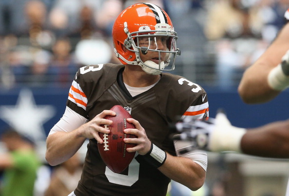 Brandon Weeden #3 of the Cleveland Browns (Photo by Ronald Martinez/Getty Images)
