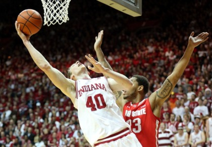 Cody Zeller #40 of the Indiana Hoosiers (Photo by Andy Lyons/Getty Images)