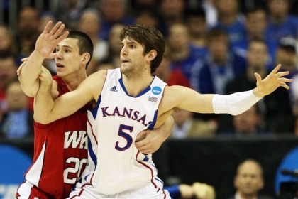Jeff Withey #5 of the Kansas Jayhawks (Photo by Ed Zurga/Getty Images)
