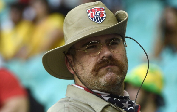 USMNT fan in Brazil (credit: MARTIN BUREAU/AFP/Getty Images)