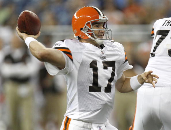 Jake Delhomme #17 of the Cleveland Browns (Photo by Gregory Shamus/Getty Images)