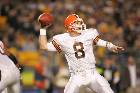 Quarterback Trent Dilfer #8 of the Cleveland Browns (Photo by Jamie Squire/Getty Images)
