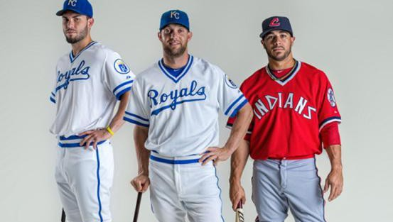 size 40 adc8e 430d8 Indians, Royals To Wear Throwback Uniforms On Saturday – CBS ...