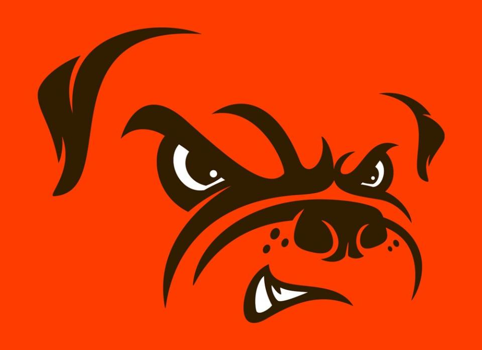 The Browns introduced an updated Dawg Pound logo Tuesday. / (Photo courtesy Cleveland Browns/NFL)