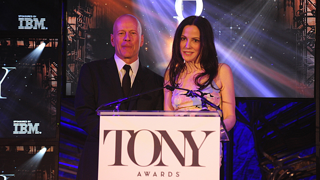 Mary-Louise Parker and Bruce Willis announce the nominations for The 69th Annual Tony (Photo by Heather Wines/©2015 CBS Broadcasting, Inc. All Rights Reserved)