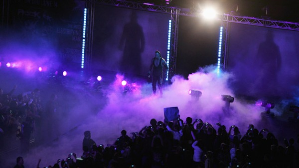 The Undertaker enters the arena during WWE Smackdown at Acer Arena on June 15, 2008 in Sydney, Australia.